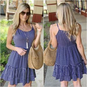 Infinity Raine Dresses - ✨LAST ONE✨Navy striped cami dress
